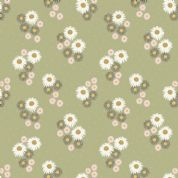 Lewis & Irene Flo's Wildflowers - 5444 - Daisies on Green - FLO12.4 - Cotton Fabric